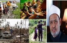 مفتی الازهر مصر: در فاجعه میانمار، سازمانهای بین المللی و جوامع حقوق بشری در یک سمت، جسدها، خون ها، اشک یتیمان و ناله زنان در سمت دیگری است