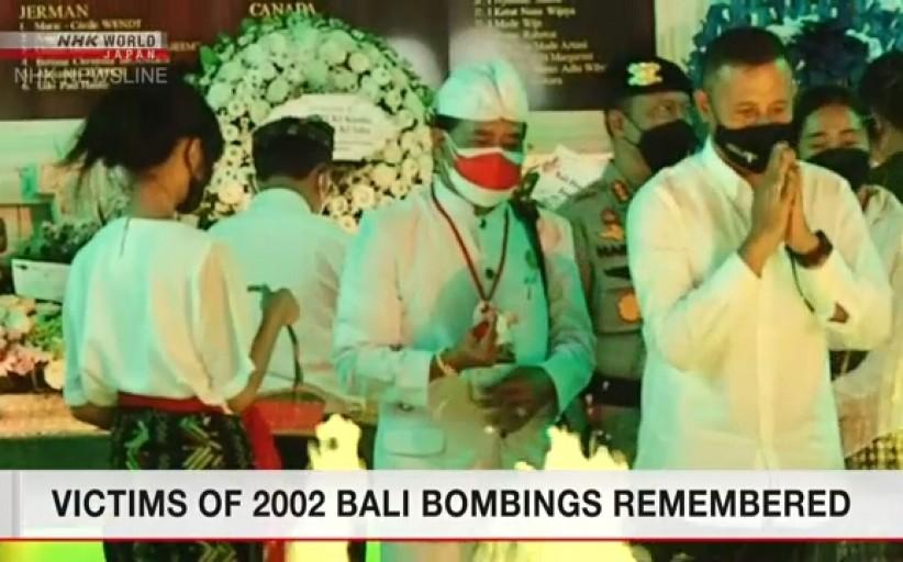 بزرگداشت قربانیان حادثه تروریستی در بالی اندونزی