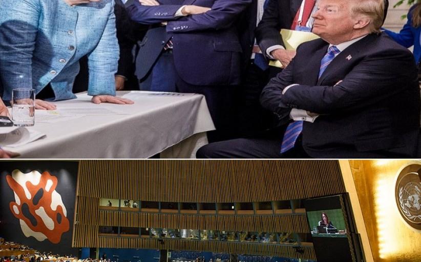 آنگلا مرکل: بر این باورم که تباه کردن چیزی(سازمان ملل متحد) بدون آنکه چیز جدیدی جای آن ساخته شده باشد، واقعا خطرناک است.