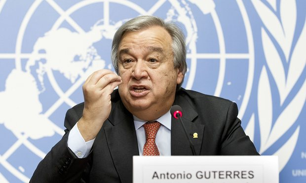 آنتونیو گوترش خواستار توقف حملات هوایی و زمینی علیه یمن شد